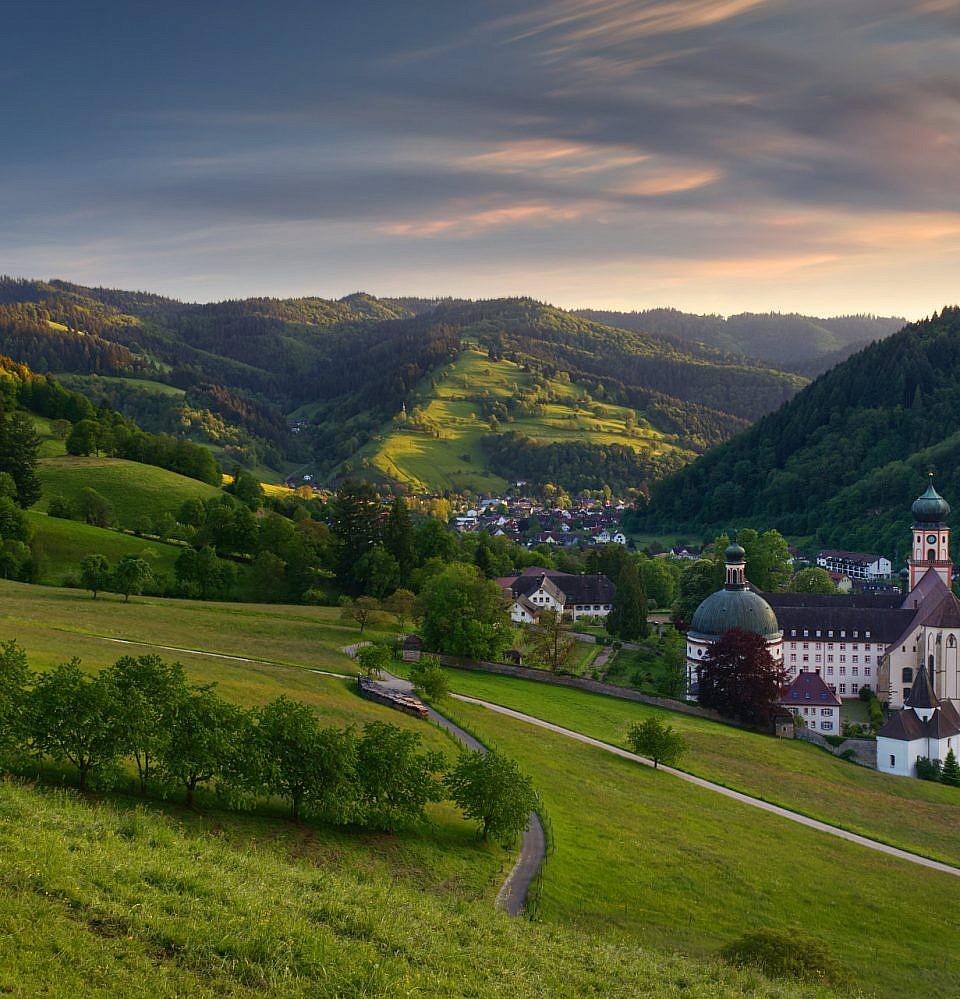 Münstertal bei Sonnenuntergang