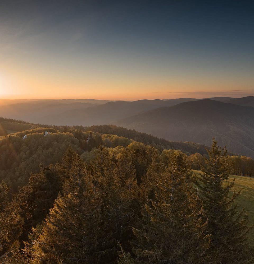 Neues Foto – Sonnenaufgang auf dem Schauinsland